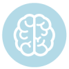 brain icon on blue circle